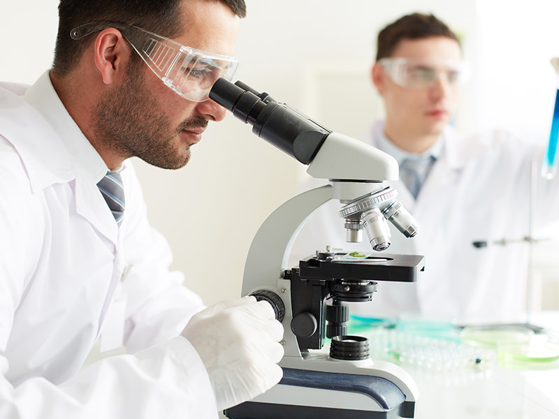 Microscope in Laboratory testing for vaccine Top Pharmaceutical Company in India