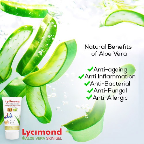 Aloe Vera Benefits in Lycimond Aloe Vera Skin Gel