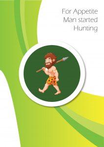 Cartoon of primitive ages man