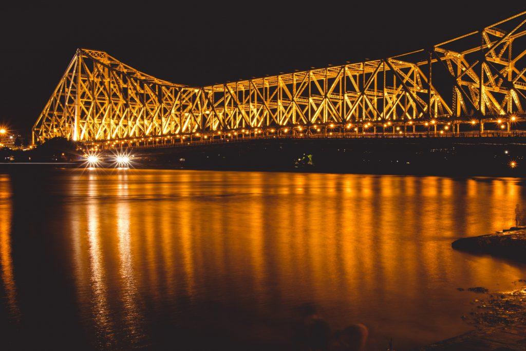 Howrah Bridge night Kolkata